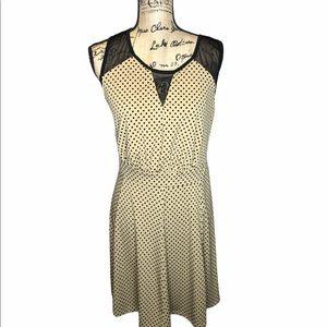 Enfocus polka dot sheer mini swing dress 1…